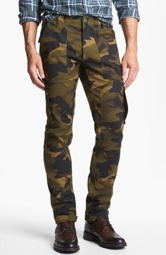 Michael Kors Camo Slim Fit Cargo Pants in Green for Men (Army)