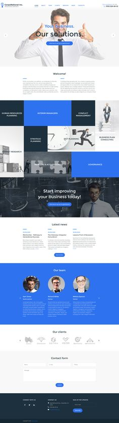 CorpoRational is a business consultant WordPress theme with a SEO-friendly code, video integration, and drag-and-drop content editor. http://www.templatemonster.com/wordpress-themes/corporational-wordpress-theme-57866.html