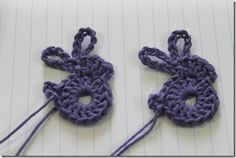crochet Easter rabbit tutorial.  Add a chain to make a bookmark!