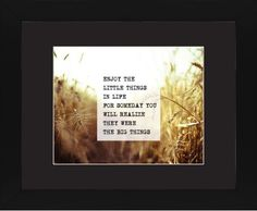 The Little Things Framed Print, Black, Contemporary, Cream, Black, Single piece, 11 x 14 inches, White