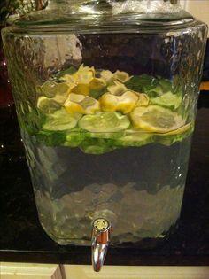 Lemon, cucumber, mint detox (metabolism boosting) drink
