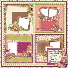 Secret Garden Digital Scrapbook Kit Quick by JssScrapBoutique, $2.99