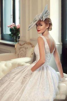 Vintage trouwjurk van kant prinsessen bruidsjurk op maat
