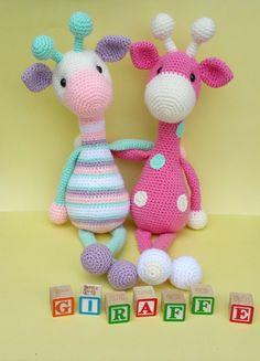 giraffe crochet pattern giraffe doll crochet by ThePinkFoxStitches