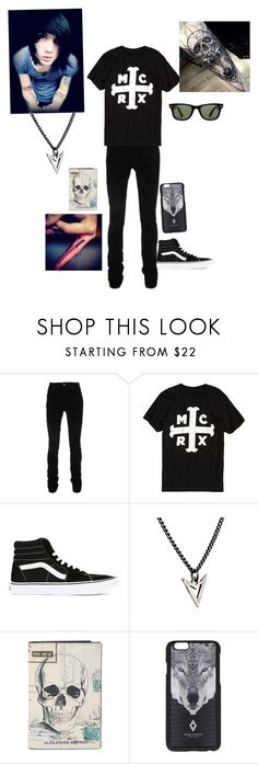 """Tyler"" by twilightfreak18-1 ❤ liked on Polyvore featuring AMIRI, Vans, Brianna Lamar, Alexander McQueen, Marcelo Burlon, Ray-Ban, men's fashion and menswear"