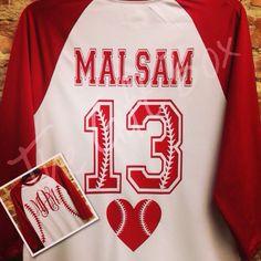 Baseball shirt with monogram