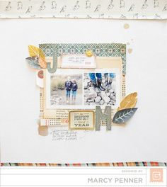 Created by Marcy Penner for Simon Says Stamp using some Basic Grey for an Awesome Layout.  October 2013