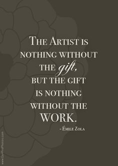 The Artist is Nothing without the Gift... Article on the responsibility of the artist by Photographer Leah Remillet from Go4ProPhotos