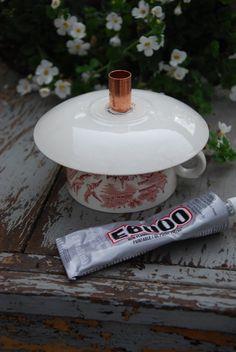 "Tea Cup Bird Feeder Tutorial                  Supplies Needed:     Vintage Tea Cup & Saucer   E6000 Industrial Strength Adhesive   1/2"" Co..."