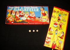 SNOW WHITE & THE SEVEN DWARFS BAGATELLE by Chad Valley c1930s