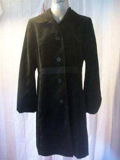 Sz 10 Ann Taylor Loft Solid Black Velvet Dressy Coat Jacket Misses Unique Warm | eBay