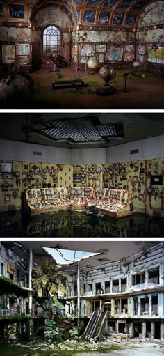 Dioramas of decay by Lori Nix Lori Nix - (staged photography)