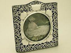 Sterling Silver Photograph Frame - Antique Edwardian