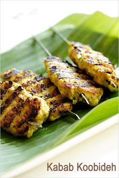 Kabab Koobideh - ground chicken, onion, parsley leaves, oil. #chicken #grill