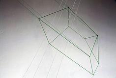 Madisyn Zael.  Refract (Detail) 2015 glass, nails, string, metal Variable Dimensions Photo: Daniel Spellman