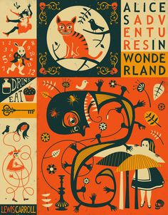 ALICE'S ADVENTURES IN WONDERLAND Art Print by Jazzberry Blue
