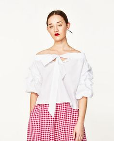 SPRING FAVORITE -- of OFF-THE-SHOULDER BLOUSE from Zara