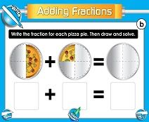 SMART Board Lessons - adding fractions with the same denominator…both in SMART Board and in a PDF (with a worksheet). LOTS of other lessons on the left hand side…all free!