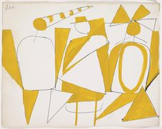 Robert Motherwell (American 1915-1991): The Three Clowns, 1945, Gouache and ink on paper, 28.6 x 36.8 cm