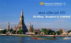 Vé máy bay Đà Nẵng Bangkok Vietnam Airlines giá từ 336000đ