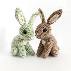 Hopscotch Bunny #1 (irenestrange) Tags: cute rabbit bunny nature woodland toy diy pattern crochet waldorf hopscotch amigurumi simple