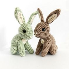 Hopscotch Bunny #1 (irenestrange) Tags: cute rabbit bunny nature woodland toy diy pattern crochet waldorf hopscotch amigurumi simple