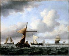 The Athenaeum - A Brisk Breeze (Willem van de Velde the Younger - )