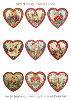 Wings of Whimsy: Valentine Hearts DAY 5 - free for personal use # ...