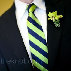 I love the tie and orchid combination for my green and & navy spring wedding