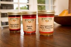 Georgia Peach Jelly, Preserves, Butter | Dickey Farms | Bourbon & Boots