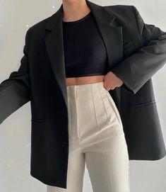 Suit Fashion, Teen Fashion Outfits, Mode Outfits, Look Fashion, Fall Outfits, Fashion Black, Fashion Tips, Hijab Fashion, Korean Fashion