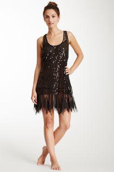 Free People Shiny Sequin Mesh Dress : cute!
