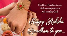 Awesome Happy Rakhi Cards For Brother From Sister Happy Raksha Bandhan Wishes, Happy Raksha Bandhan Images, Rakhi Images, Rakhi Greetings, Raksha Bandhan Cards, Best Wishes Messages, Rakhi Cards, Brother Pictures, Happy Rakhi