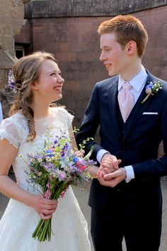 A charming couple - congratulations.  Photograph courtesy of Liz Ewbank http://raddingsphotography.wordpress.com/