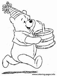 Print Winnie The Ppoh Happy Birthday S Freef738 Coloring Pages