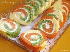 Culorile din farfurie: Tricolor rolls appetizer with cream cheese Finger Food Appetizers, Healthy Appetizers, Finger Foods, Appetizer Recipes, Snack Recipes, Cooking Recipes, Snacks, Milk Recipes, Cheese Recipes