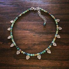 #Repost @designsbyleslie_62  Pretty chrysocolla stones and Hilltribesilver heart charms choker style 13 1/2-15 1/2 #necklace #chokernecklace #chrysocolla #hilltribesilver #heartjewelry #heart #bohochic #bohemian #gypsystyle #hippiestyle #hippiechic #handmadejewelry #handmade #yogajewelry #valintinesday #beachstyle #beachfashion #balistyle #festivalfashion #coachella #silverjewelry #wanderlust #tribal #tribaljewelry #tribalfashion
