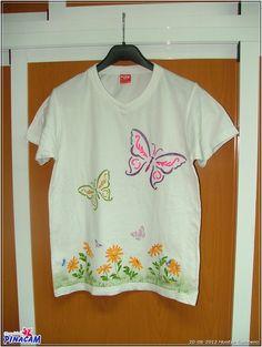Pintura en tela. Camiseta. #manualidades #pinacam #pintura #tela                               www.manualidadespinacam.com
