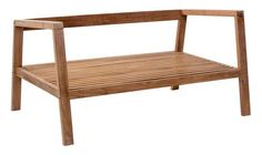 Bilander Outdoor Sofa Frame Only in Natural Teak