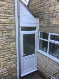 New white PVCU porch door!