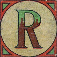 Vintage Brick Letter R | Flickr - Photo Sharing!
