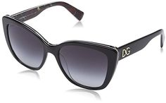 DG Dolce  Gabbana Womens 0DG4216 Oval Sunglasses Black On Printing Roses 55 mm *** To view further for this item, visit the image link.Note:It is affiliate link to Amazon.