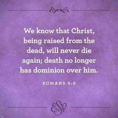 and we shall live forever with Him. Romans 6, Jesus Loves You, Don't Give Up, Bible Verses, Christ, Death, Love You, Amen, Inspiration