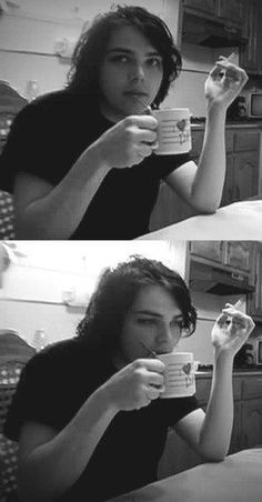 Basement Gerard is my spirit animal tbh... even drinking whatever he's drinking he looks sassy...