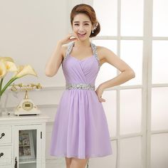 ericdress.com offers high quality  Glittering Halter Beading Short Homecoming Dress Sweet 16 Dresses unit price of $ 82.79.