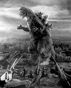 Godzilla 1954. Today I met Haruo Nakajima, the gentleman who was Godzilla (and several other monsters) in the movies.