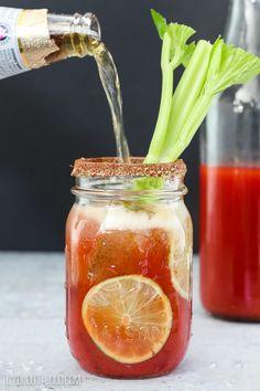Michelada (Mexican Bloody Mary) recipe - perfect for Cinco de Mayo! Msg 4 21+ #CervezaCelebration ad