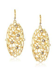 29% OFF T Tahari Lace Oval Drop Earrings