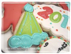 New Year Party Hat Cookie