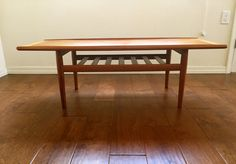 Danish modern teak coffee table by Grete Jalk by Midcenturyville on Etsy